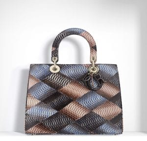 Dior Multicolor Snakeskin Patchwork Diorissimo Bag