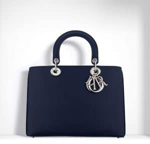 Dior Sapphire Blue Hand-Painted Calfskin and Python Diorissimo Bag