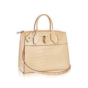 Louis Vuitton Beige Crocodile City Steamer MM Bag