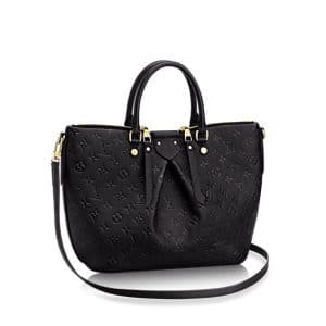 Louis Vuitton Black Monogram Empreinte Mazarine MM Bag