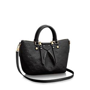 Louis Vuitton Black Monogram Empreinte Mazarine PM Bag