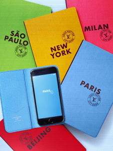 Louis Vuitton City Guide Books and iPhone 6 Folio
