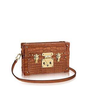 Louis Vuitton Clay Crocodile Petite Malle Bag