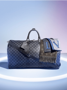 Louis Vuitton Damier Cobalt Keepall Bandouliere 45 Bag and Scarves