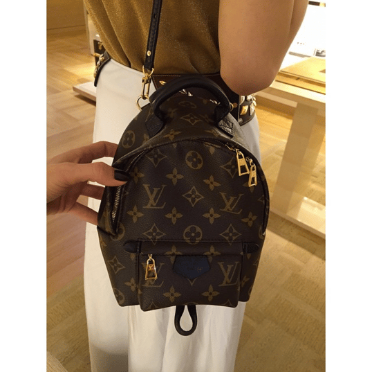 1257f96e58fe IG  lux brands boutique. Louis Vuitton Monogram Canvas Palm Springs  Backpack MM Bag. IG  parisstationshop