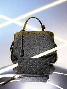 Louis Vuitton Monogram Empreinte Montaigne MM Bag and Zippy Wallet