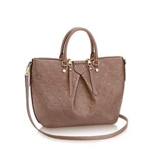 Louis Vuitton Taupe Monogram Empreinte Mazarine MM Bag