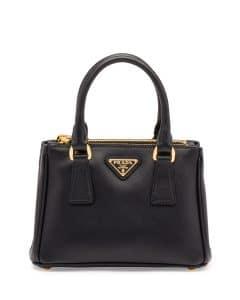 Prada Black Saffiano Lux Tote Micro Bag