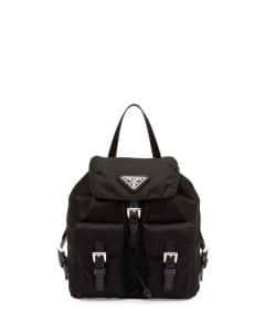 Prada Black Vela Crossbody Backpack Mini Bag