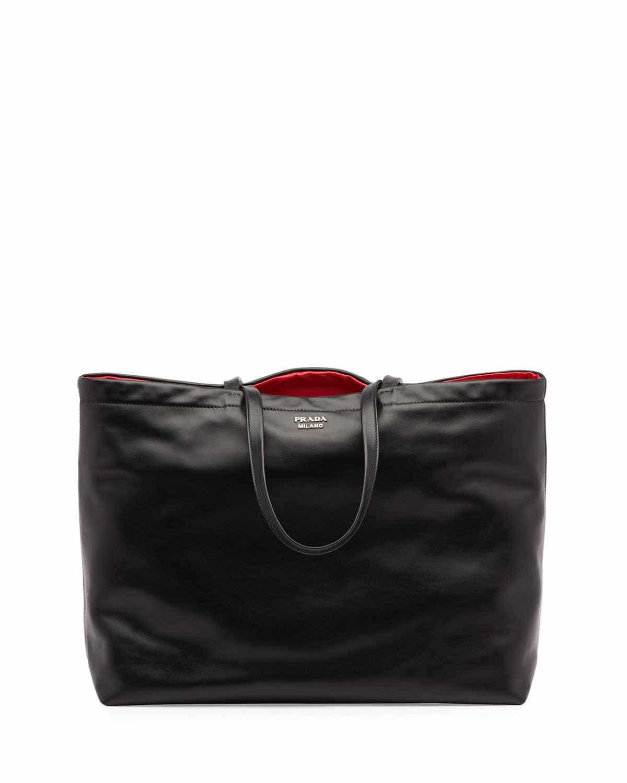 black and red prada handbag