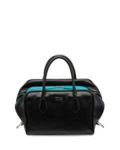 Prada Black/Turquoise Inside Medium Bag