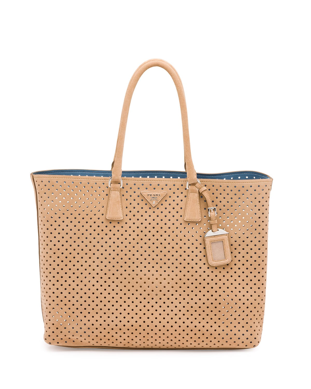 21a688b363 Prada Resort 2016 Bag Collection Featuring Perforated Handbags ...