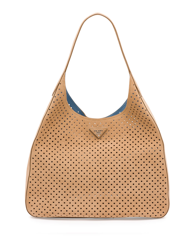 prada leather bag black - Prada Resort 2016 Bag Collection Featuring Perforated Handbags ...