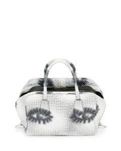 Prada White/Black Eye Print Python Inside Bag