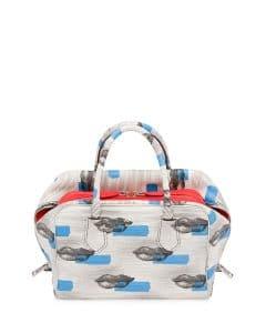 Prada White/Blue Lip Print Inside Bag