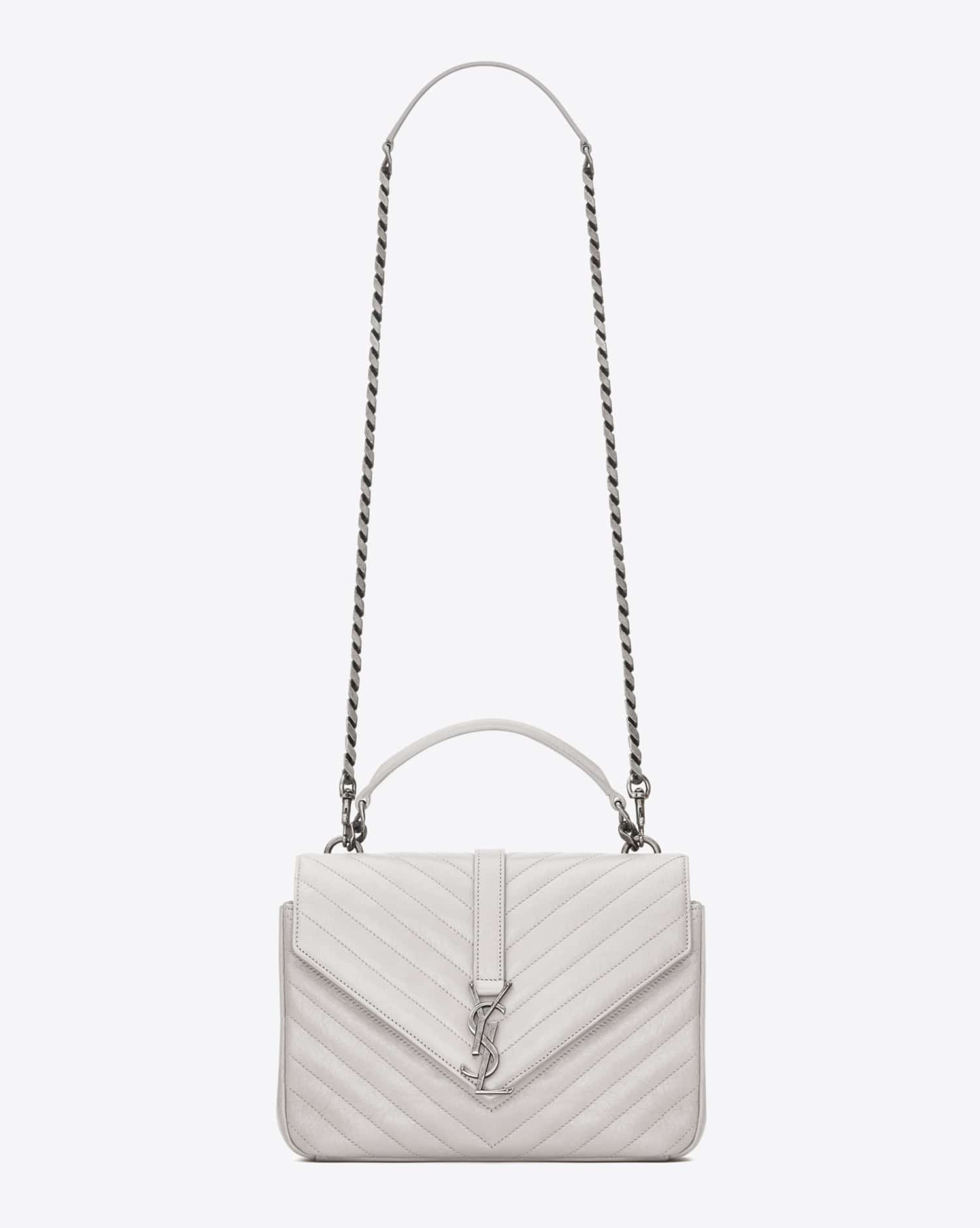 yves saint laurent bags prices - monogram saint laurent blogger bag in powder pink leather