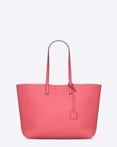 Saint Laurent Pale Rose/Black Shopping Tote Large Bag