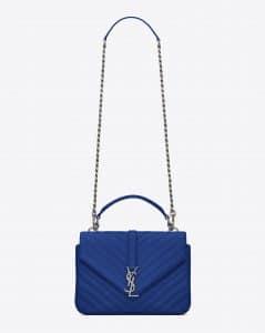Saint Laurent Ultramarine Matelasse Monogram College Medium Bag