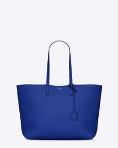 Saint Laurent Ultramarine/Black Shopping Tote Large Bag