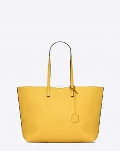 Saint Laurent Yellow/Black Shopping Tote Large Bag