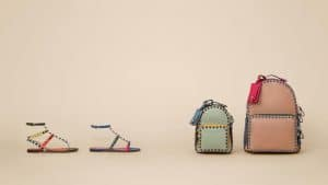 Valentino Multicolor Rockstud Sandals and Backpack Bags - Spring 2016