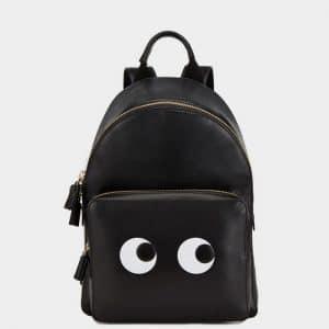 Anya Hindmarch Black Eyes Mini Backpack Bag