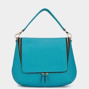 Anya Hindmarch Bright Petrol Maxi Zip Satchel Bag