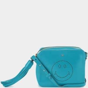 Anya Hindmarch Bright Petrol Smiley Cross-Body Bag