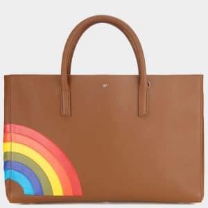 Anya Hindmarch Caramel Rainbow Maxi Featherweight Ebury Bag