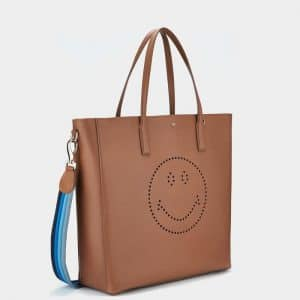 Anya Hindmarch Caramel Smiley Featherweight Ebury Tote Bag