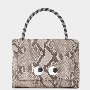 Anya Hindmarch Natural Python Eyes Bathurst Satchel Bag