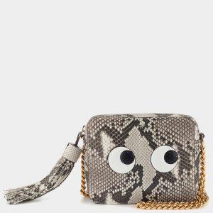 Anya Hindmarch Natural Python Eyes Cross-Body Bag