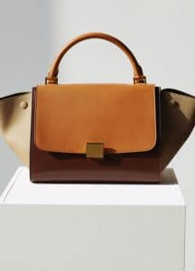 Celine Brown/Beige/Tan Trapeze Small Bag