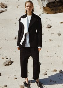 Celine Dropped Shoulders Jacket / Long Sleeves Shirt / Relaxed Fit Front Buttoned Trousers / Rodeo V Neck Pump