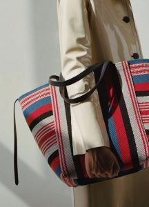 Celine Multicolor Woven Cabas Phantom Medium Bag