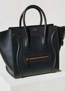 Celine Navy Blue Mini Luggage Bag