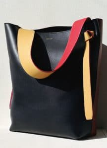 Celine Navy/Brick/Yellow Twisted Cabas Small Bag