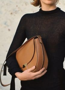 Celine Tan Medium Trotteur Bag and Turtleneck Sweater