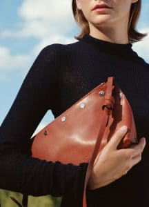 Celine Turtleneck Sweater and Brick Studded Small Sailor Bag