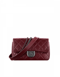 Chanel Burgundy Double Carry Flap Bag