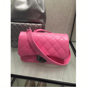 Chanel Pink Double Carry Flap Small Bag 1