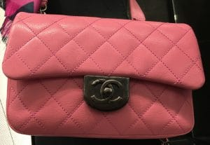 Chanel Pink Double Carry Flap Small Bag 2