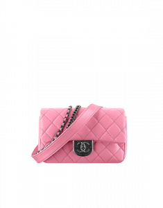 Chanel Pink Double Carry Flap Small Bag