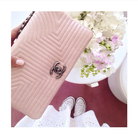 Chanel Pink Flap Bag