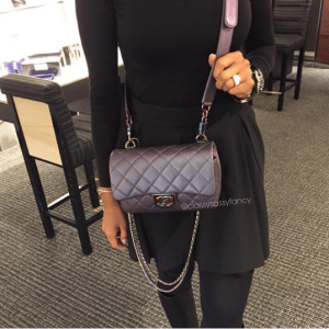Chanel Purple Iridescent Double Carry Flap Small Bag 1