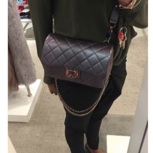 Chanel Purple Iridescent Double Carry Flap Small Bag 2