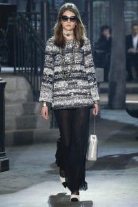 Chanel Silver Python Shoulder Bag - Pre-Fall 2016