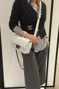 Chanel White Double Carry Flap Small Bag 5