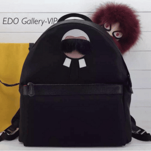 Fendi Black Karlito Backpack Bag
