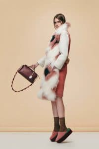 Fendi Burgundy By The Way Mini Bag with Floral Strap You - Pre-Fall 2016